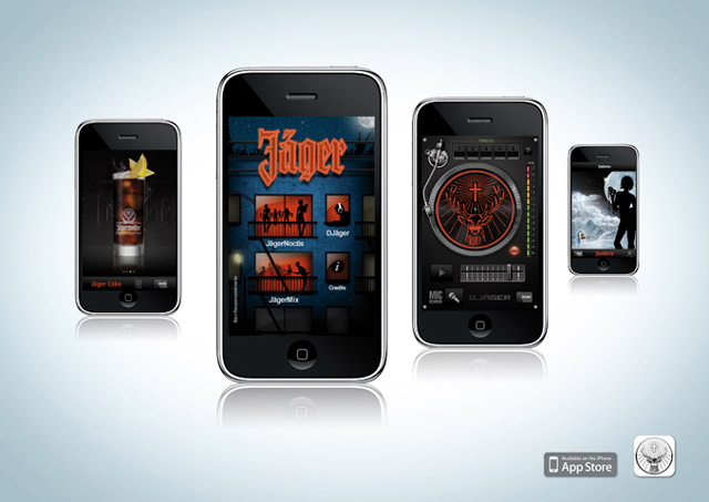 Jager mobile app per iPhone