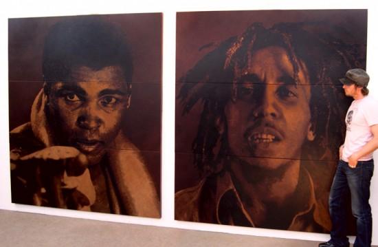 Mark Evans. Coltelli cuoio e immagini straordinarie. Bob Marley.